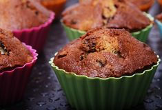 Muffins isolated on white royalty free stock photos
