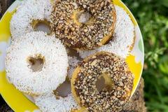 Muffins, koekjes met condens Royalty-vrije Stock Afbeelding