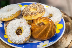 Muffins, koekjes met condens Stock Afbeelding