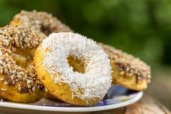 Muffins, koekjes met condens Royalty-vrije Stock Foto