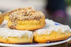 Muffins, koekjes met condens Royalty-vrije Stock Fotografie
