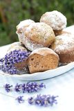 Muffins and lavender Stock Photo