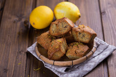 Muffins with lemon Royalty Free Stock Images