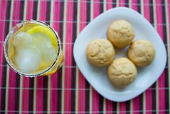 Muffins&Lemonade Royalty Free Stock Image