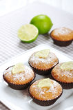 Muffins with lime Royalty Free Stock Image