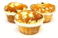 Muffins lokalisiert auf Weiß Lizenzfreies Stockbild