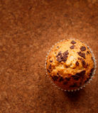 Muffins with love. Choc chic muffins.  isalated muffins with background Royalty Free Stock Photos
