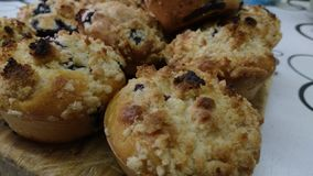 Muffins met arandano stock foto