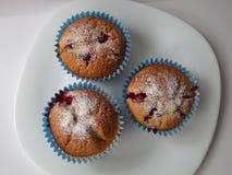 Muffins met bessen Stock Foto