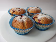 Muffins met bessen Stock Foto's