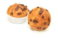 Muffins met chocolade Royalty-vrije Stock Afbeeldingen