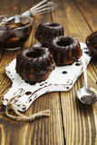 Muffins met chocolade Stock Foto