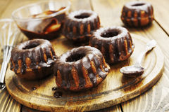 Muffins met chocolade Royalty-vrije Stock Foto's