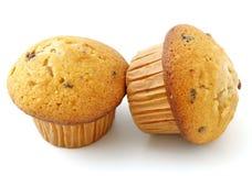 Muffins met chocolade het vullen Stock Foto's