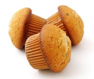 Muffins met chocolade het vullen royalty-vrije stock afbeelding