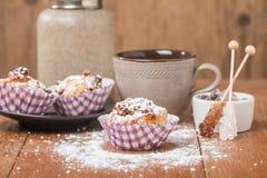 muffins met havermeel en okkernoten stock afbeeldingen