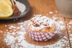 muffins met havermeel en okkernoten Stock Afbeelding