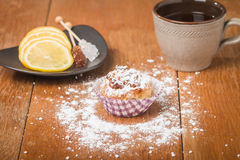 muffins met havermeel en okkernoten Royalty-vrije Stock Afbeelding