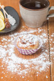 muffins met havermeel en okkernoten Stock Fotografie