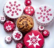 Muffins met liefde Stock Foto