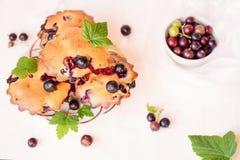 Muffins met zwarte bessen Royalty-vrije Stock Afbeeldingen