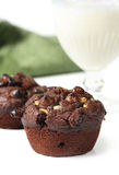 Muffins and Milk Royalty Free Stock Photography
