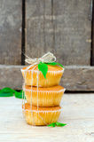 Muffins with mint Royalty Free Stock Images