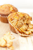 Muffins mit Apfel Stockbild