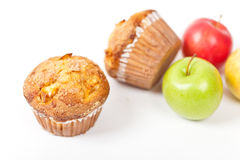 Muffins mit Apfel Lizenzfreies Stockfoto
