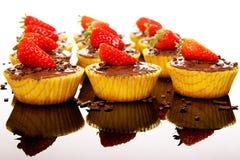 Muffins mit Erdbeere Lizenzfreie Stockfotos