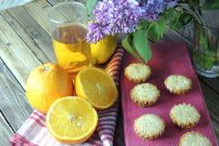 Muffins mit Frucht Lizenzfreie Stockfotos