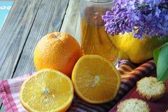 Muffins mit Frucht Stockfoto