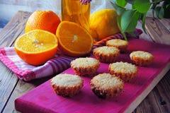 Muffins mit Frucht Stockfotos