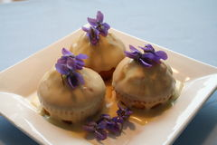 Muffins mit ganache Lizenzfreie Stockfotografie