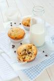 Muffins mit Schokolade Stockfotografie