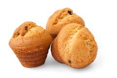 Muffins mit Schokoladenfüllung Stockfotos