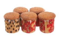 Muffins na biel Obraz Stock