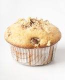 Muffins with nuts. Great cake with walnuts, close-up Royalty Free Stock Photography