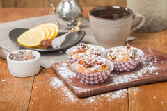 Muffins with oatmeal and walnuts Stock Image