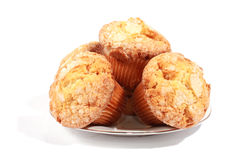 Muffins On A Plate Royalty Free Stock Images