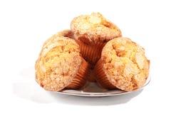 Muffins op een plaat Royalty-vrije Stock Afbeeldingen