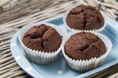 Muffins op een plaat Royalty-vrije Stock Afbeelding