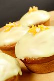 Muffins with orange stars Stock Photos