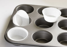 Muffins pan Stock Images