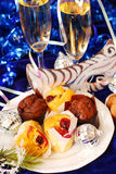 Muffins on party table Stock Images