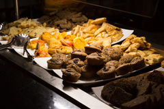 Muffins and pastries-Stock Photos. Muffins, bread and french pastries in a buffet stock photo