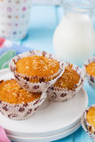 Muffins Pina Colada with pineapple and coconut Stock Photography