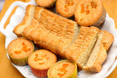 Muffins on plate Stock Images