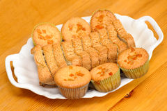 Muffins on plate Royalty Free Stock Image