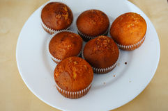Muffins on plate Stock Image